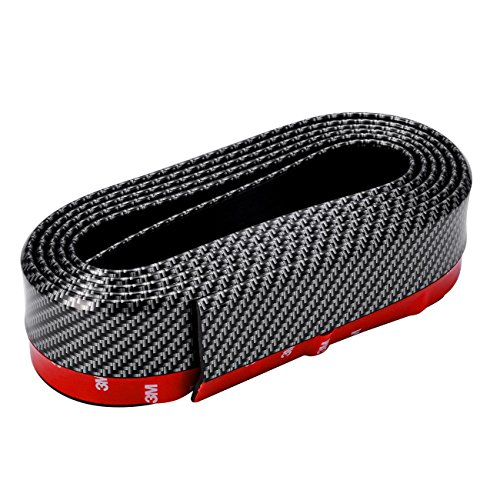 Auxbeam DIY-Auto-Heckschürzen-Frontstoßstangen-Spoiler-Schutzfolie aus Kohlenstoff Carbon-Fiber Gummi-Universal-Spoiler für Seitenteil und Heckschürze 2.5m*52mm