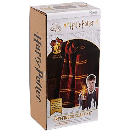 Il Mondo Magico - Kit di Maglieria Sciarpa della Casa Hogwarts Grifondoro - Eaglemoss Collections