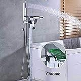 Grifos de ducha Set de ducha Ducha Led Sistema piso de la bañera Soporte Grifo mezclador Grifo monomando 360 Rotación del surtidor con el ABS ducha de mano mezclador del baño grifo de la ducha Sistema