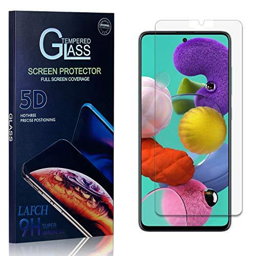 LAFCH Display Schutzfolie Kompatibel mit Galaxy A71, 1 Stück Ultra Klar Abdeckung Gehärtetem Glas Panzerglas Schutzfolie für Samsung Galaxy A71, 9H Härte, Anti-Kratzer