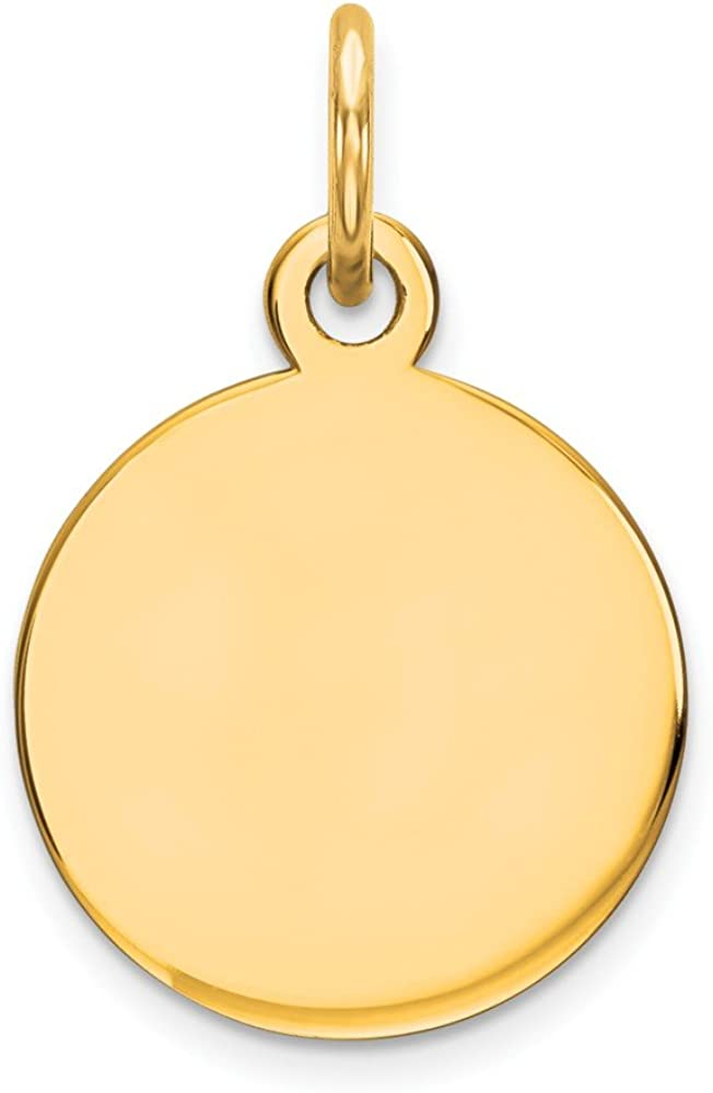 925 Sterling Silver Yellow Beauty products Max 66% OFF Gold-Plated Disc Cha Engravable Round