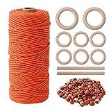 Herefun Macrame Cuerda 3mm x 100m, Hecha Mano Craft Cuerda, Natural Cordel...