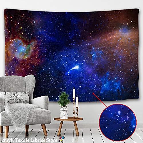 KHKJ Galaxy Universe Space Tapiz Estrellas Colgante de Pared Hippie Retro Decoración para el hogar Yoga Beach Mat Tapiz Witchcraft Paño de Pared A2 150x130cm