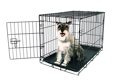 Carlson Pet Products Secure and Foldable Single Door Metal Dog Crate, Medium