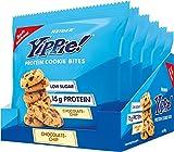 Weider Yippie! Cookie Bites, Chocolate Chip, Eiweiß-Kekse mit Whey Protein, 6x50g Beutel, 15g Protein, Fitness Snack