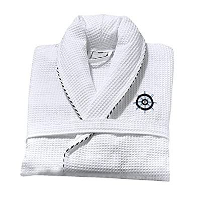 Classic Turkish Towels 100% Cotton Unisex Kimono Waffle Robes for Women and Men by