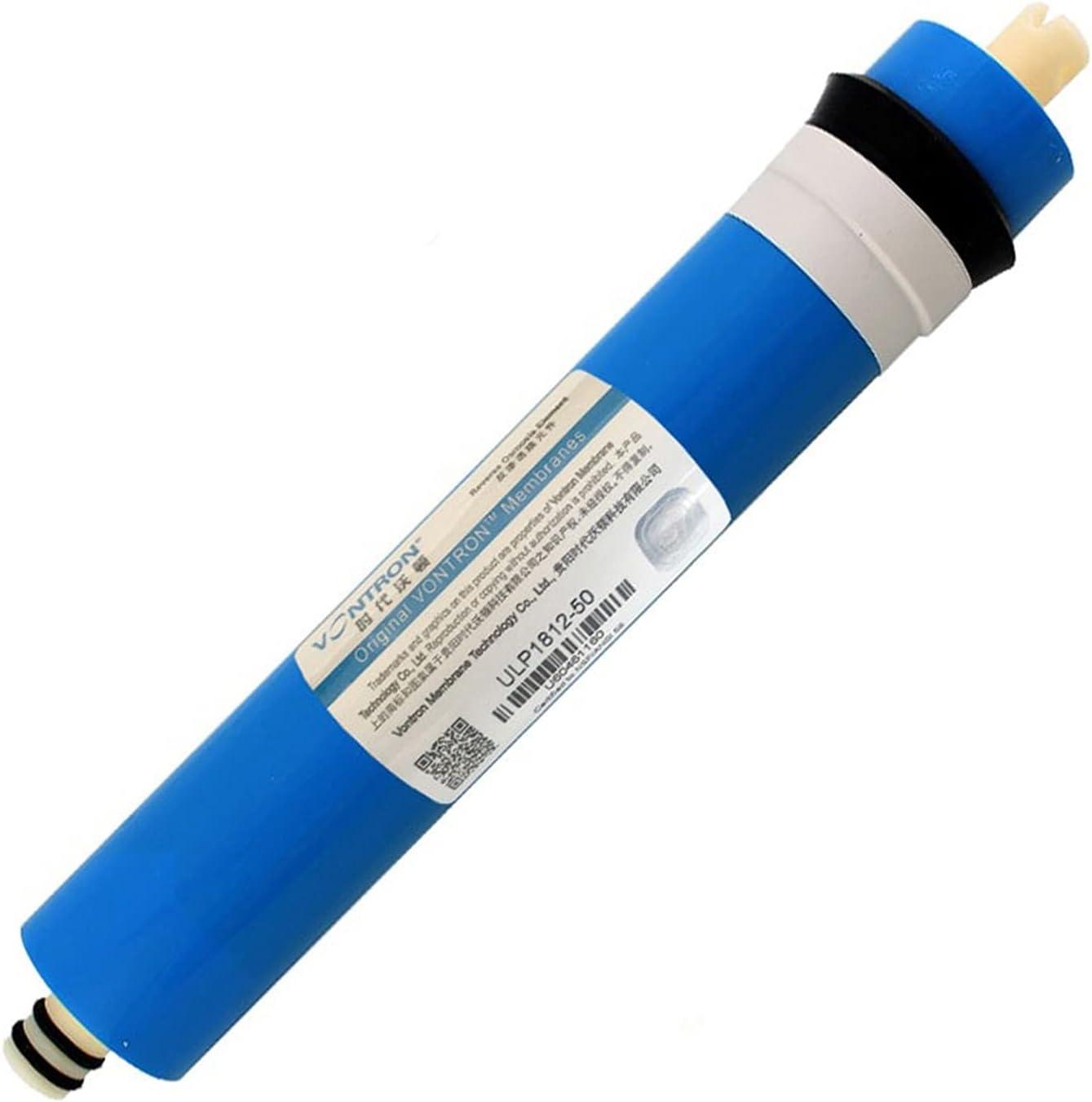 Agua destilada Filtro de agua 1812-50 Residencial 50 GPD RO Membrana para el sistema de ósmosis inversa Purificador de agua del hogar para el fregadero