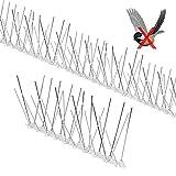 Yodeace Pinchos Antipalomas Inoxidable, 3,5 Metros, Kit de Pinchos para pájaros de Acero Inoxidable, Antipalomas para Balcón, Terraza, Ventana