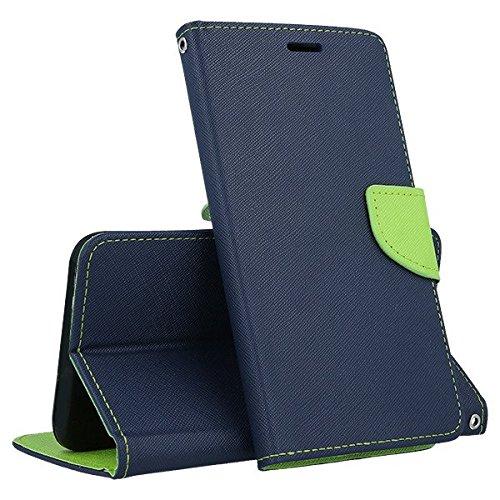 compatibile Para Huawei Y6 II Y62 2 Y6II / Honor 5A CAM-L03 CAM-L21 CAM-L23 CAM-L32 pantalla 5.5' Funda cover case flip libro stand gel silicona TPU ecopiel cartera magnética portatarjetas azul