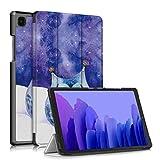 TOPCASE Soporte Funda Protectora para Samsung Galaxy Tab A7 10.4 Pulgadas SM-T500/T505/T507 2020 Carcasa,Ultra Delgado Stand Función Smart Cover Auto-Sueño/Estela,Búho