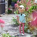 Garden Mile Neuheit Metall Gartenfiguren handbemalt Blech Metall Terrasse Ornamente Garten Beet Streu Dekorationen UV-beständig und wasserdicht Outdoor