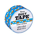Darice Patterned Rainbow Icon, 1.88 Inches x 10 Yards Duct Tape, Multicolor