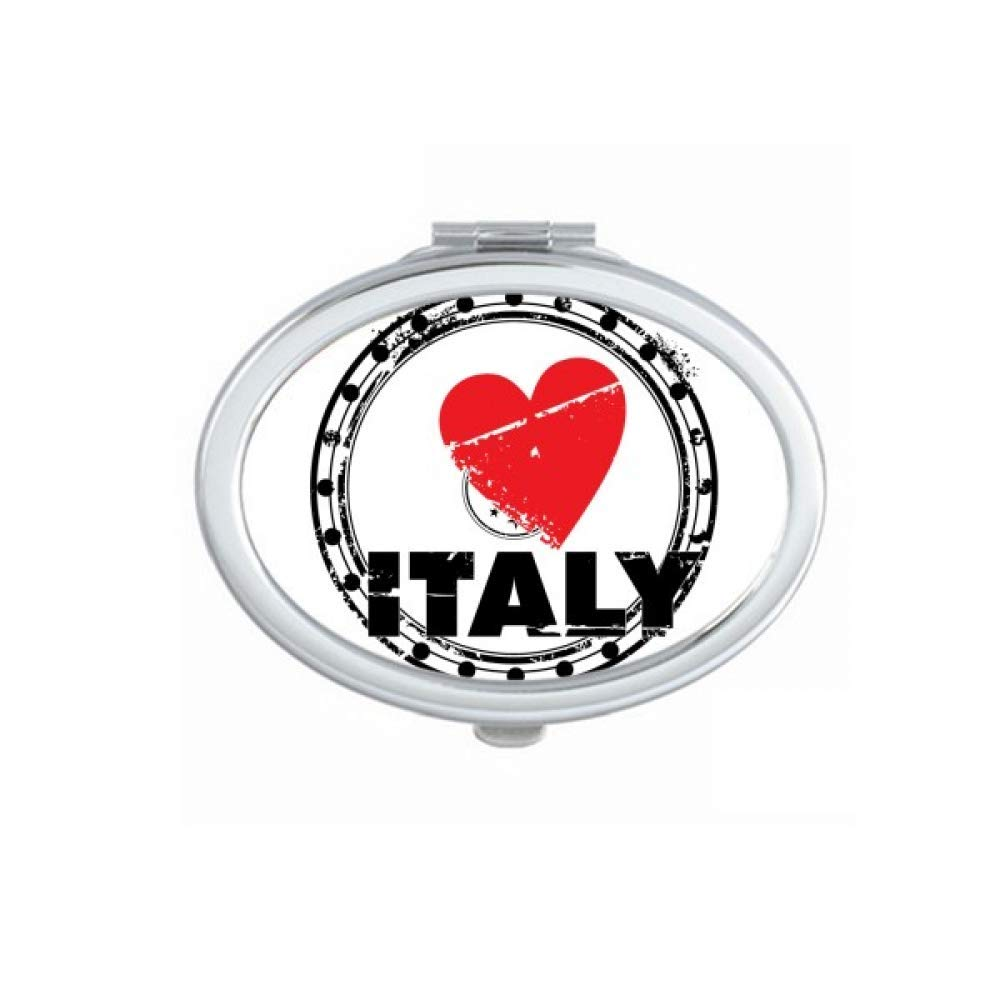 Max 84% OFF I Love Italy Word Heart Circle Hand Portable Fold Ma Max 44% OFF Mirror
