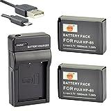 DSTE NP-85 Li-Ionen Batterie (2-Pack) und Micro USB Ladegerät Anzug kompatibel mit Fuji FinePix SL1000 SL240 SL260 SL280 SL300 SL305