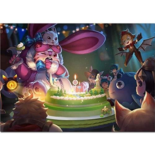 Monster Birthday Rompecabezas de Madera, Rompecabezas de 1000 Piezas, para niños Adultos, Rompecabezas de descompresión, Bonitos Regalos