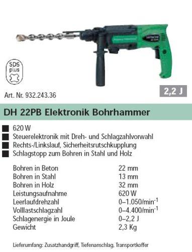 Hitachi DH22PB Elektronik Bohrhammer