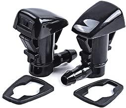 OTUAYAUTO Front Windshield Washer Nozzles, for 08-12 Chevrolet Malibu, 05-10 Pontiac G6, 07-09 Saturn Aura - Replaces OEM #: 15247800, Spray Jet Kit (pack of 2)
