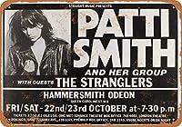 1976年ロンドンのパティ・スミスヴィンテージルック8x12インチメタルブリキサインレトロ - 壁の装飾プラークポスター メタルプレートブリキ 看板 2枚セットアンティークレトロ