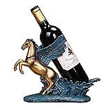 YAeele Europea Vino a Caballo gabinete del Vino Estante salón de Resina Suerte Soporte for Botellas de Pantalla Cocina Soporte de Escritorio Decoración del Arte del Arte
