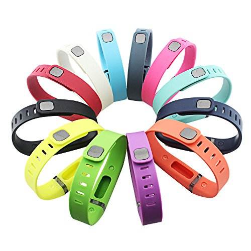 GinCoband 12PCS Fitbit Flex Wristband Replacement Accessory with Clasp...