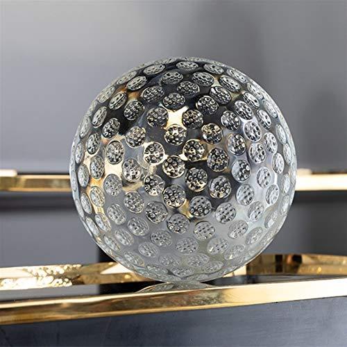 ZZLLFF Klare K9 Kristallglas Golf Linse Ball Display Figur mit Tasche Kreative Home Büro Dekoration 60 80 100mm Globus (Size : 60mm Ball with Bag)