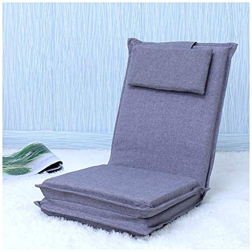 MEIMEI Lengthen On Lazy Sofa Foldable Bed Single Sofa Bedroom Study Dormitory Dormitory Chair (Color : Gray)