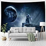 Jhdstore Astronaut Tapestry Trippy Wall Hanging Space Tapestry for Bedroom Psychedelic Spaceman Wall Tapestry Deep Space Tapestry for Boys Dorm Decor 51x59 Inch