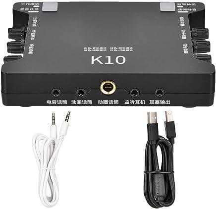 Tosuny Scheda Audio dal Vivo, Scheda Audio Esterna USB K10 Mixer Digitale per Tablet, Microfono Universale KTV, 16 Effetti sonori del Riverbero Digitale DSP,Collega e USA - Trova i prezzi più bassi