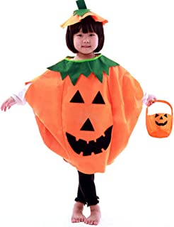 QBSM Halloween Pumpkin Costume Suit Party Clothing Clothes for Baby Toddler Child Kids Adults