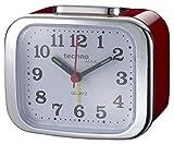 Technoline Quarzwecker Modell XL, rot, analog, nachtleuchtende Zeiger