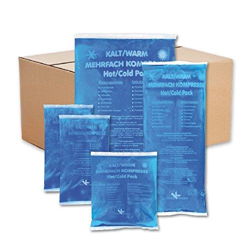 Kalt-Warm-Kompressen Set | Mehrfachkompressen | 5 teiliges Set mit verschiedenen Größen (1x Klein, 2x Mittel, 2x Groß) | Mikrowellengeeignet