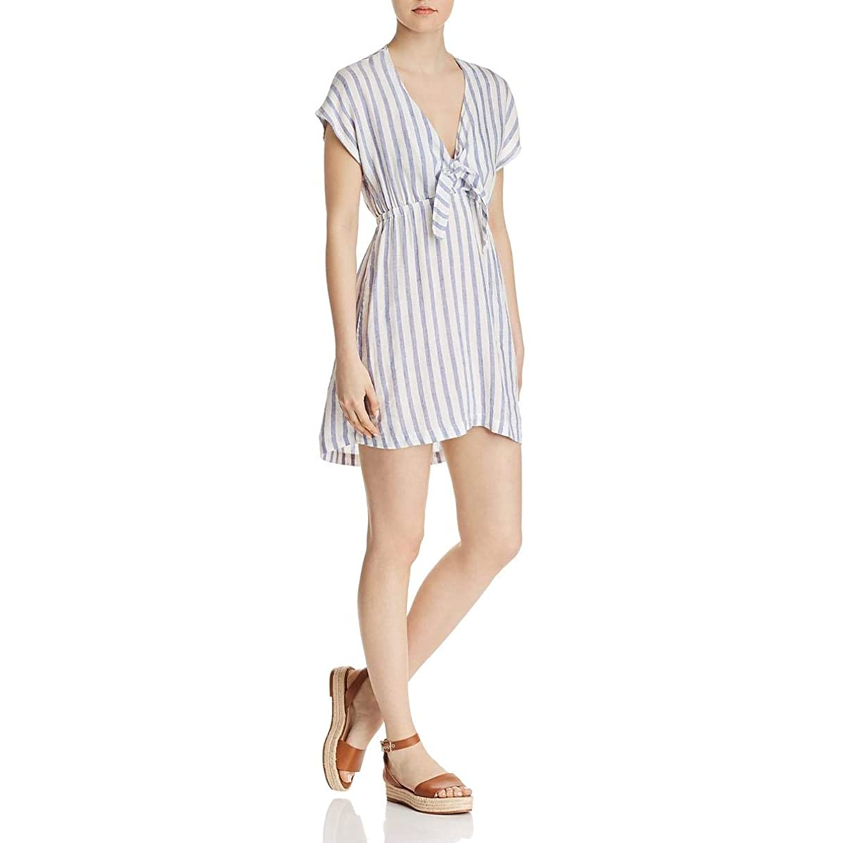 Rails Womens Charlotte Striped Tie Front Casual Dress