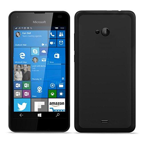 Conie BT19567 Basic TPU Kompatibel mit Microsoft Lumia 535, Handycover Schutzhülle aus Silikon Basic Design TPU Case für Lumia 535 Handycase Tiefschwarz