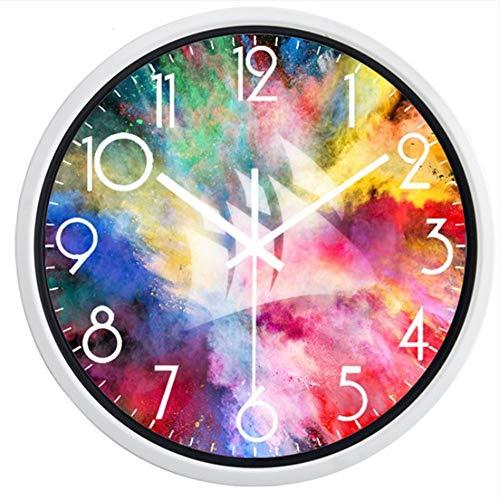 guyuell The Color Run The Rainbow Exécuter New Quartz Horloge Murale Design Moderne Silencieux Salon Horloge Home Decor, Un