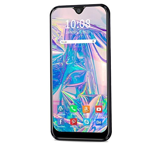 Moviles Libres 4G Android 9.0 Pie, 3GB RAM+32GB ROM/128GB 5.5 Pulgadas Smartphone Libre 4800mAh Quad-Core Dual SIM Telefonos Dual Cámara 8MP+5MP Moviles Buenos (Negro)