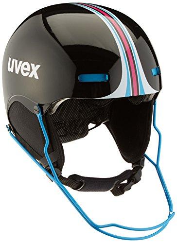 Uvex Erwachsene HLMT 5 Race Skihelm, Black-Blue, 59-62 cm