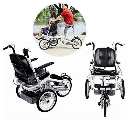 2 in 1 Kombi-Kinderwagen Kombi-Kinderwagen Faltbare Mutter-Kind-Auto Abnehmbar 2 Modi Free Convertible Fahrmodus + Kinderwagen-Modus Can Sit-and-Ride Adult Unisex