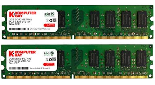 Komputerbay - Memoria DIMM para PC, DDR2, 667MHz, PC2-5300/P