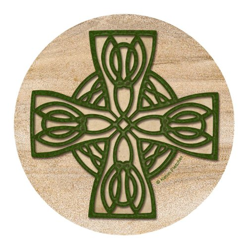 Thirstystone Drink Coaster Set, Celtic Cross