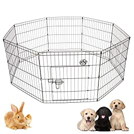 COZY PET Puppy Playpen for Dogs Puppies Rabbits Guinea Pigs, Play Pen Whelping Pen Dog Cage Crate Rabbit Run 4 Sizes (We do not ship to the Channel Islands or The Isles of Scilly.)
