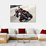 Ducati Monster Super Bike Photo Wall Art Poster Canvas Painting for Bedroom Decoration 60x90cm No Frame