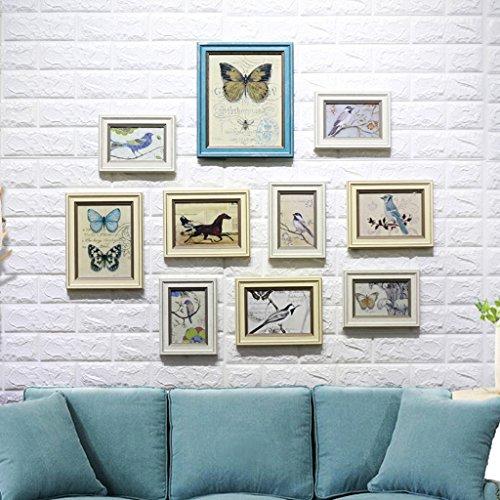 Yxsd Holzbilderrahmen 10 stücke Collage Bilderrahmen Wand Bilderrahmen für Bild, Porta Retrato Moldura Vintage Bilderrahmen (Farbe : A)