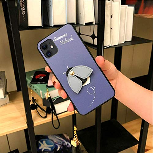 LIMITED Little Bee Funda para iPhone 11 Pro MAX Funda de Silicona para iPhone X XR MAX 7 8plus Funda a Prueba de caídas para iphone7 8 Azul
