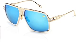 Fashion Newest Vintage Big Frame Goggle Summer Style Sun Glasses Oculos Men's Sunglasses Retro (Color : Blue)