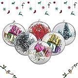 AGM Bolas de Navidad, 20Pcs Bolas Navideña Personalizada Transparente, Bola Rellenable de Navidad, Fiesta, Bodas, Bola Colgante Decoración de Navidad DIY[Diámetro: 8 cm] (no Incluye Cuerda)