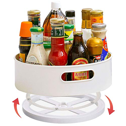 ShinePine Küchen Organizer, Drehteller für Vorratsschrank und Kühlschrank, drehbarer Gewürzhalter aus BPA-freiem Kunststoff