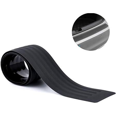 Kfz Stoßstangenschutz Universal Türschwellenschutz Kratzfestes Stoßstangengummi Aufkleber Für Die Meisten Autos Pickup Suv Lkw Einfache Installation Schwarz Auto