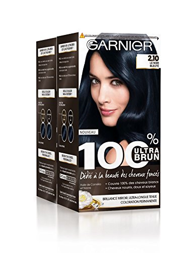 Garnier 100% Ultra Brun - Coloration Permanente Ultra Brun 2.10 Le Noir Bleuté