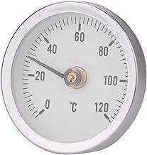 Termómetro de resorte bimetálico a prueba de polvo, medidor de temperatura impermeable de agua caliente de 63 mm, 0-120 ° para el hogar