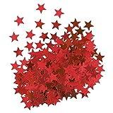Unique Party- Confetti con forma de estrella, Color rojo (91115)